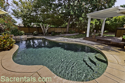 Master Suite Covered Patio Deck With View And Walk Out To The Pool And Back  Garden